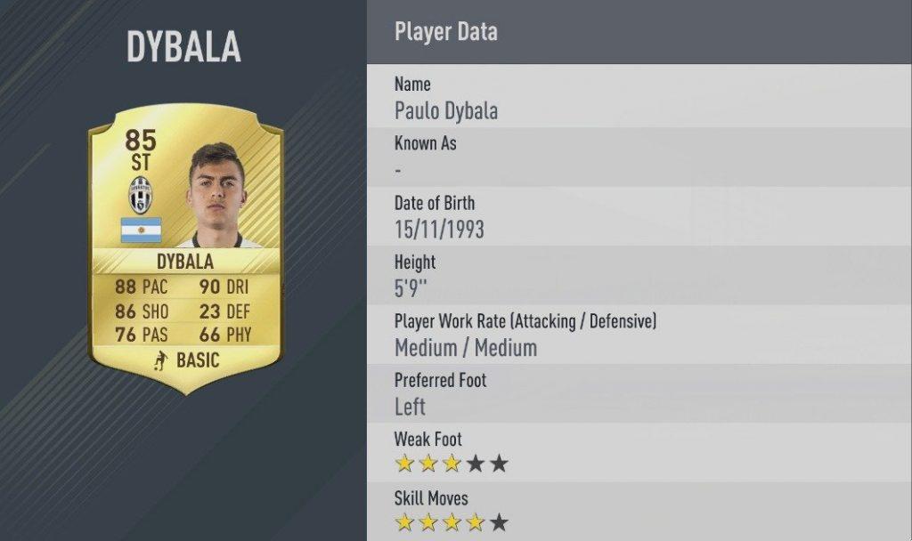 dybala  migliori dribbling Fifa 17