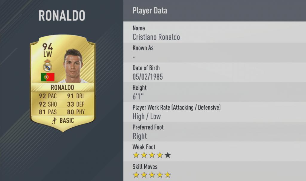 Cristiano ronaldo migliori dribbling Fifa 17